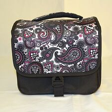 Camera Bag with Shoulder Strap New in Box Black Paisley for DSLR & Extra Lenses