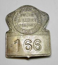 New ListingObsolete Badge Cumberland County Power & Light Company Electric , Portland Maine