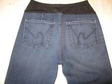Citizens of Humanity Flare Maternity Jeans Sz 29 Dark Distressed w Stretch