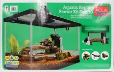 Reptile Habitat Kit Cage Starter Set Tank Filter Lid Bask Lamp Turtle Frog Snake