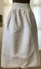 New listing Antique Victorian White Quilted Cotton Petticoat