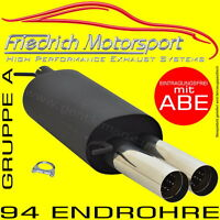 FRIEDRICH MOTORSPORT SPORTAUSPUFF Audi A3 Limo 8V 1.4 TFSI 1.8 TFSI 2.0 TDI