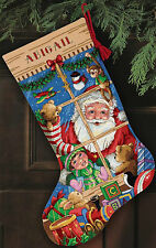 Cross Stitch Kit ~ Gold Collection Santa's Toys Christmas Stocking #8818