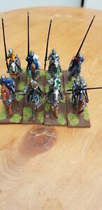 8 x 28mm Late Medieval Knights painted and based