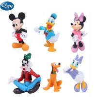LOT DE 6 FIGURINES MICKEY MINNIE DONALD DINGO DAISY DISNEY JOUET DECOCOLLECTION