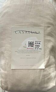 CASALUNA KING LINEN SHEET SET NATURAL NEW IN PACKAGE MSRP $179