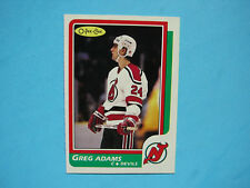 1986/87 O-PEE-CHEE NHL HOCKEY CARD #10 GREG ADAMS ROOKIE NM+ SHARP!! 86/87 OPC