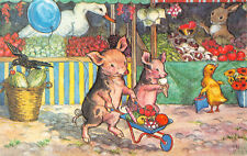 R258118 When Piglets go to Market by Molly Brett. The Medici Society