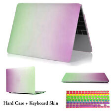 Rubberized Case Cover with Keyboard Skin for Apple MacBook air Pro 11 13 15 inch
