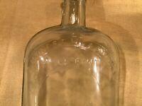Antique Whiskey Flask Honest Measure Full Pint #3