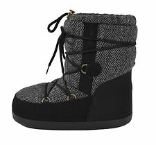 Moncler Black Leather Wool Winter Snow Boots 41/42/43 New $450