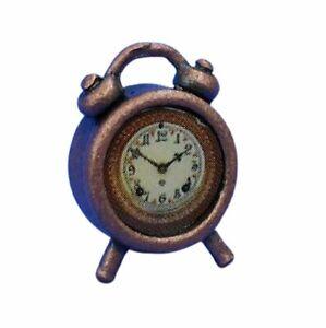 Miniature Dollhouse Antique Alarm Clock 1:12 Scale New