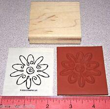 Stampin Up Something Nice Stamp Single Flower Fancy Design Floral Pattern New