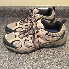 MERRELL Men's SZ 10 Hiking Boots Hilltop Ventilator Mid WP Hiker Brindle EUC