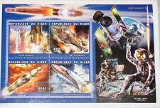 Níger 1999 klb 1757-60 MS 1046 Space ships lanzaderas espaciales rockets mnh