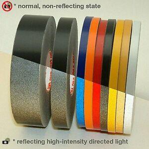 3M™ 580 scotchlite reflective tape stripe for wheel black color 10mm x 6MT