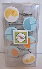 1 pack of 12 hooks Shower Curtain Hooks Circo Ducks Umbrellas