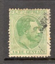 Philippines 1880s Classic Alfonso Used Value 1/8c. 182444