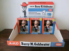 More details for 4 vintage barry goldwater remco dolls in boxes with original display tray, 1964