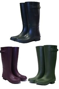Ladies & Mens His & Her Town And Country Wellington Boots Wellies Natural Rubber