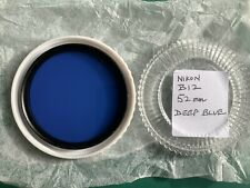 Nikon Deep Blue Filter B12  52mm Original boxed and a CP-3 case + Instructions