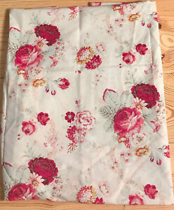 """Waverly Norfolk Rose Material Fabric 37.5"""" x 69"""" Floral Cottage Curtain Pillow M"""