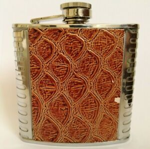 Vintage Flask Stainless Steel 6 OZ Flask, Hip flask, Whiskey flask