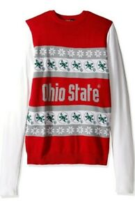 NCAA Ohio State Buckeyes One Too Many Mens Ugly Crew Neck Sweater KLEW L or 2XL