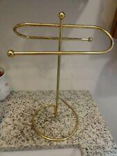 VTG Gold Metal 2 Arm Vanity Guest Hand Towel Stand