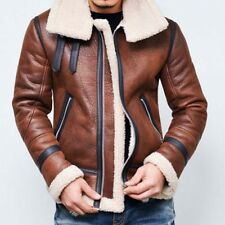 Winter Mens Jacket Fur Lined Outwear Fashion Warm Cotton Leather Coat Motorcycle