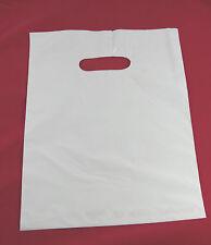"100 9"" x 12"" (50) WHITE & (50) BLACK GLOSSY Low-Density Plastic Merchandise Bags"