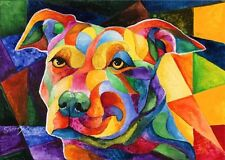 PIT BULL I 8X10 DOG Print from Artist Sherry Shipley