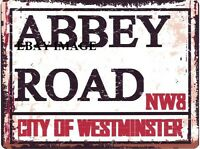 ABBEY ROAD METAL SIGN RETRO VINTAGE STYLE SMALL