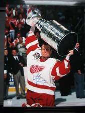 MIKE VERNON 1997 RED WINGS AUTO STANLEY CUP 11x14 PHOTO