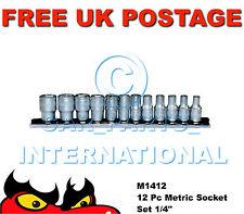 Teng Tools M1412 Metric Socket Set 12 Piece 1/4in Drive