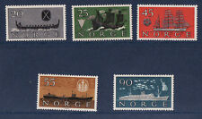 NORVEGE   série de 5   bateaux de  1960   **