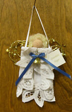 """Lace Doily Ornament #HF0609  GUARDIAN ANGEL, NEW from our Retail Store 6"""""""