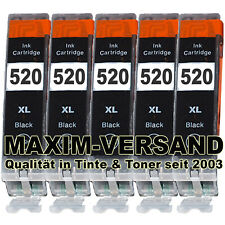 5x Tinte für Canon PGI-520 BK XL Black Pixma MP540 MP550 MP560 MP620 MP630 NEU