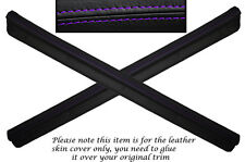 PURPLE STITCH 2X DOOR SILL TRIM SKIN COVERS FITS NISSAN 300ZX Z32 1990-1996