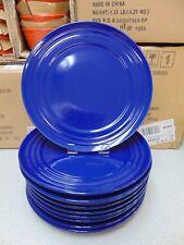 ❤ Rachael Ray Double Ridge Blue Dinnerware Dinner Plate