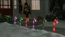 24 (4 sets) NEW Holiday Show Home App LED CANDY CANE PATHWAY LIGHTS Bluetooth