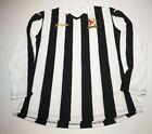 Joma Cefn Druids A.F.C. Mens Long Sleeve Shirt, Size XL, White/Black, GC AB5