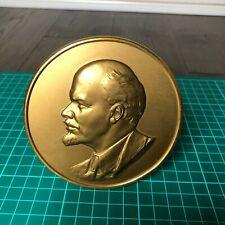 Leningrad mint Vintage Soviet Union Era Lenin Barelief Table Medal
