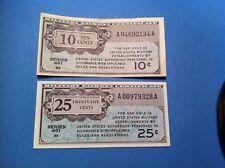 461 MPC 10 + 25 Cent Lot, High Grade, 1946, ten twenty five cents military (p59)
