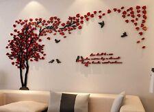 3d Pareja murales de la pared del arbol de salon sofa fondo de pared para TV ...
