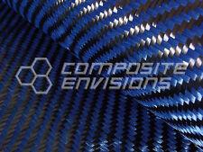 """Carbon Fiber/Blue Kevlar Fabric 2x2 Twill 50"""" 3k 5.5oz w/ Web-Lock Stabilization"""