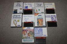 Sega Master System - Tennis, Ninja, Great Golf, Wimbledon, California Games -VGC