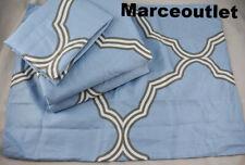 Charter Club Damask Designs Tile Geo King Duvet Cover & Shams Set Horizon Blue