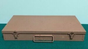 VINTAGE METAL CASE - HOLDS 150 SLIDES, COINS, OR WHATEVER YOU CAN FIT IN THERE