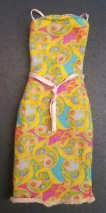 Barbie Lovely Looks 68073 Mod Yellow Fun Print Dress